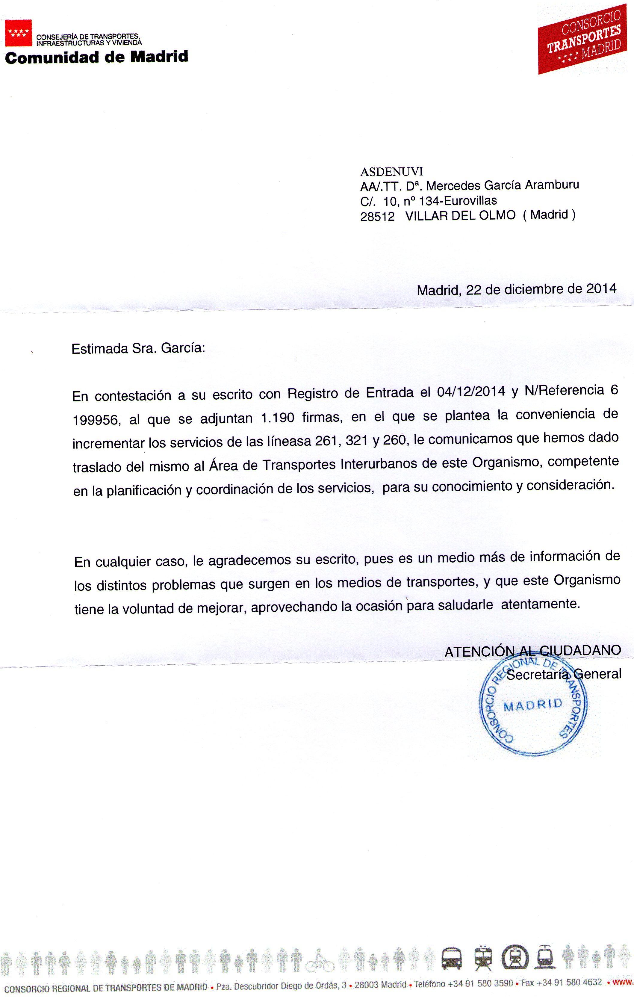 Comunidad aut noma de madrid asdenuvi for Oficina del consorcio de transportes de madrid