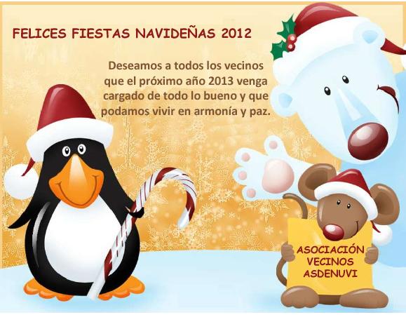 Felices Fiestas Asdenuvi 2012